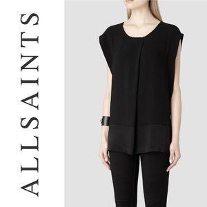 ALL SAINTS Seymour black sleeveless top